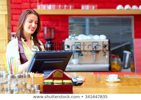 Verkoop persoon kassa business werk Stockfoto © AndreyPopov