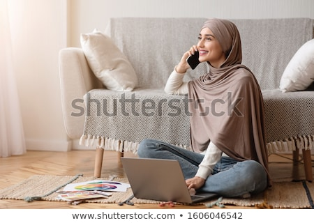 Mobile communication and Internet. The beautiful girl speaks by phone. Stock photo © ANessiR