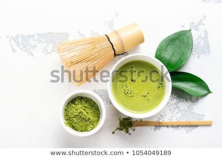 茶 スプーン スペース 文字 竹 日本語 ストックフォト © grafvision