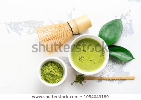 Tè cucchiaio spazio testo bambù japanese Foto d'archivio © grafvision