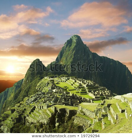 beautiful hidden city machu picchu in peru stock photo © meinzahn