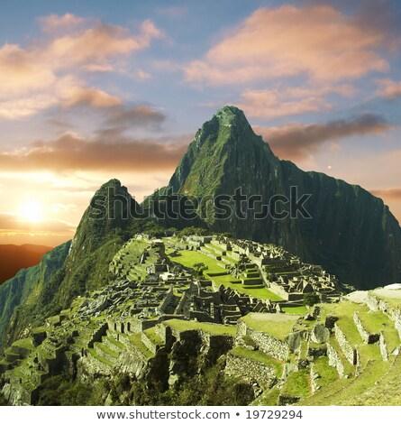 красивой скрытый город Мачу-Пикчу Перу инка Сток-фото © meinzahn
