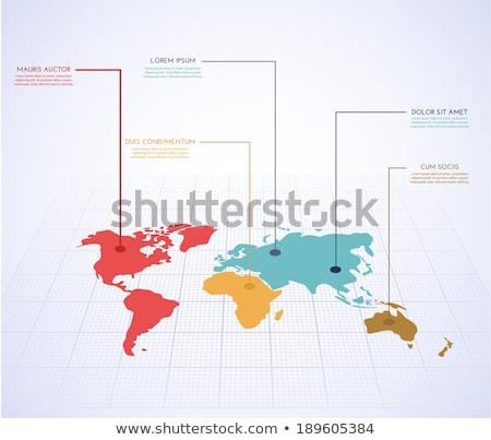 World map with rounds Stock photo © cherezoff