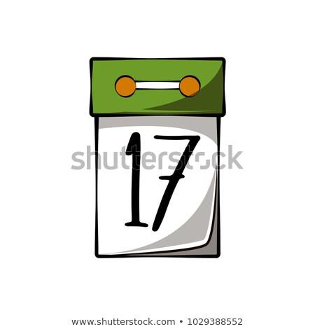 17 dag kalender geïsoleerd witte papier Stockfoto © orensila
