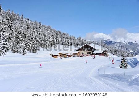 Foto stock: Nieve · cubierto · montanas · alpes · escénico