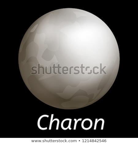 vector realistic Charon moon illustration Stock photo © TRIKONA