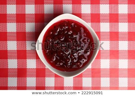 vermelho · groselha · tigela · congestionamento · vidro · fresco - foto stock © Digifoodstock