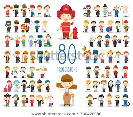 doctors cartoon characters icons set stock photo © voysla