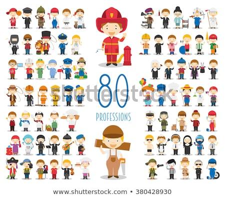 Stock photo: Doctors Cartoon Characters Icons Set