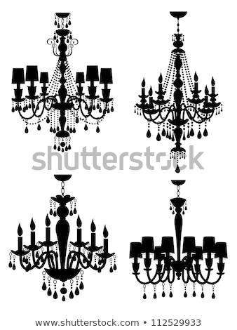 Kroonluchter abstract glas achtergrond schoonheid lamp Stockfoto © art9858