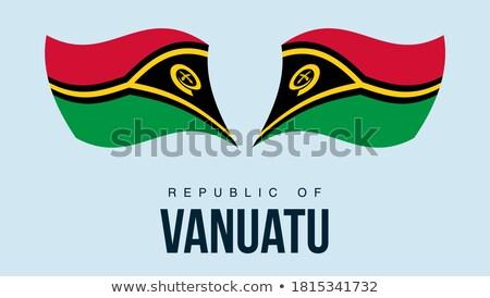 Vanuatu bandeira botão projeto mundo assinar Foto stock © ojal