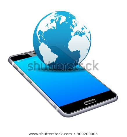 World on your Phone Cell Smart Mobile 3D and 2D Stock photo © fenton