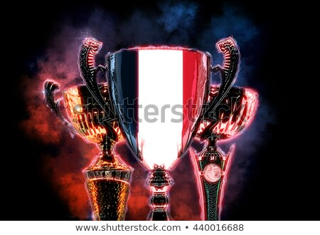Trophy cup textured with flag of France. 2D Digital illustration Stock photo © Kirill_M