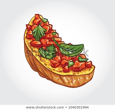 Tomate ail bruschetta photo italien Photo stock © sumners