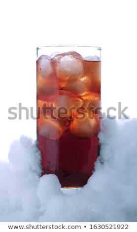 vidrio · cola · nieve · blanco · verano - foto stock © dla4
