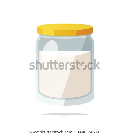 cukru · jar · pusty · etykiety · odizolowany · biały - zdjęcia stock © kitch