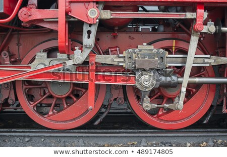 öreg klasszikus szár kerekek piros fém Stock fotó © compuinfoto