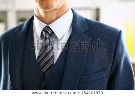 Affaires bleu veste isolé gris homme Photo stock © deandrobot