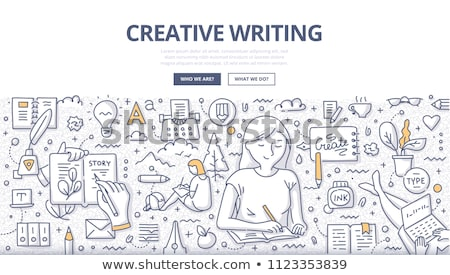 Creative Writing text on notepad Stock photo © fuzzbones0