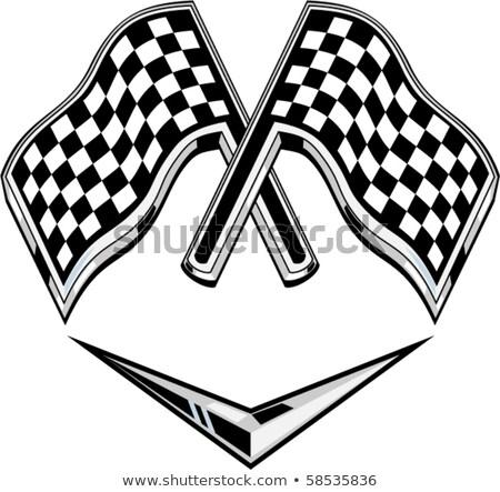 vetor · corrida · bandeiras · carro · projeto · acelerar - foto stock © bluering