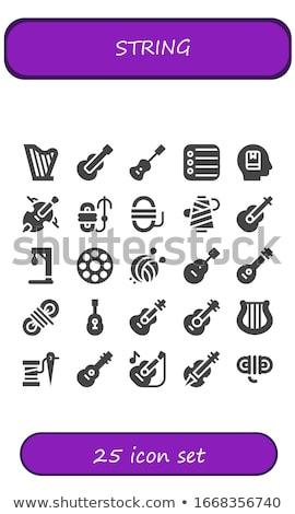vector set of yarn ball icons stock photo © freesoulproduction