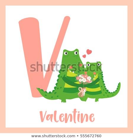 Flashcard letter V is for valentine Stock photo © bluering