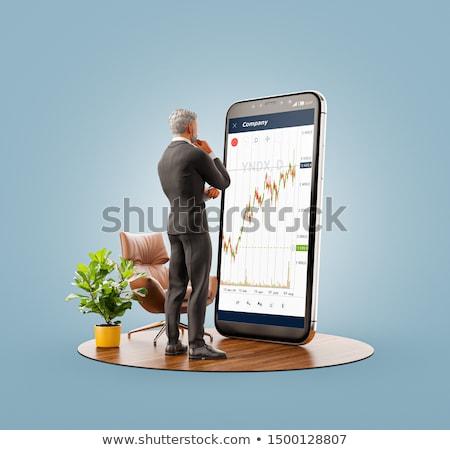 Mobiele telefoon valuta uitwisseling toepassing vrouwelijke handen Stockfoto © stevanovicigor