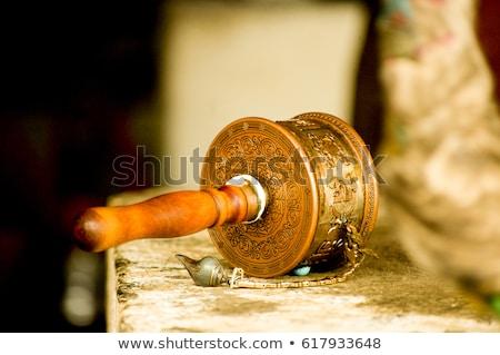 prayer wheels in tibet stock photo © bbbar