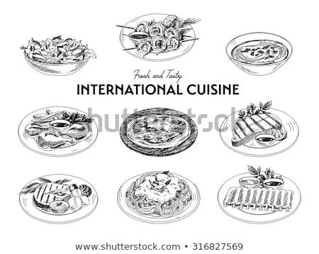 sketch collection of foods stock photo © kariiika