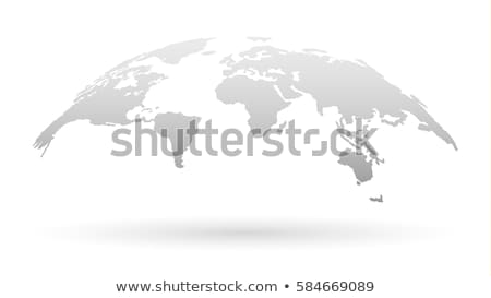 Világtérkép modern illusztráció technológia globalizáció globális üzlet Stock fotó © stevanovicigor