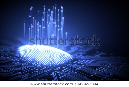 Fingerprint Binary Microchip Stock photo © idesign