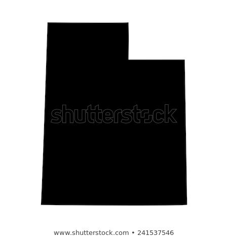 USA Utah zászló fehér 3d illusztráció textúra Stock fotó © tussik