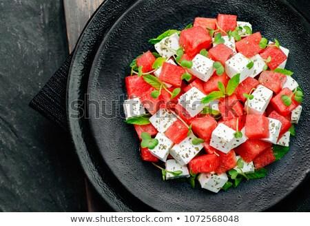 Mięty deser obiad świeże posiłek zdrowych Zdjęcia stock © M-studio