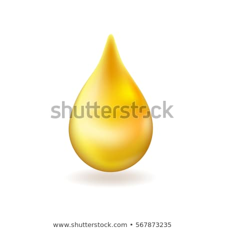 Realistic yellow oil or honey drop. 3d icon golden droplet falls. Vector illustration. Stock photo © lucia_fox