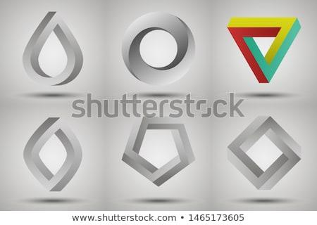 輪郭 · 幾何学的な · セット · 暗い · パーティ · 抽象的な - ストックフォト © Silanti