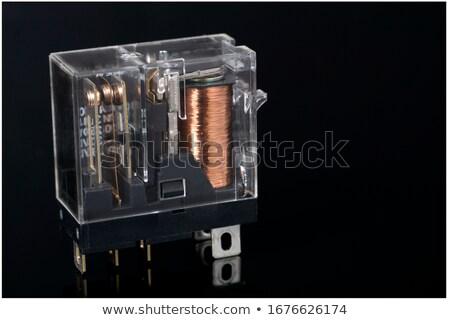 kapcsolat · fekete · erő · fehér · drót · elektronikus - stock fotó © clarion450
