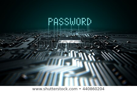 Placa de circuito infectado texto 3d render macro ver Foto stock © albund