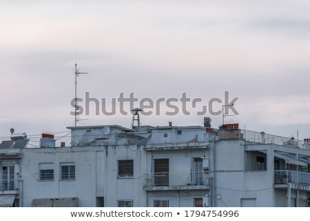 Civil defense siren on top of apartment building Stock photo © stevanovicigor