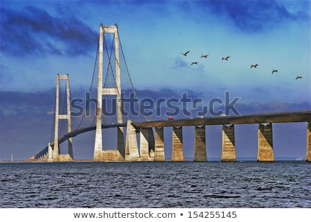 crossing the bridge Great Belt Denmark  Stock photo © compuinfoto
