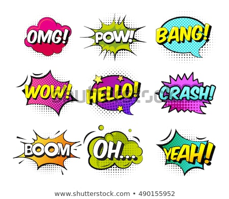 crash comic word Stock photo © studiostoks