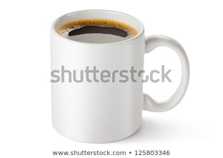 geïsoleerd · koffieboon · beker · top · koffiebonen - stockfoto © maryvalery