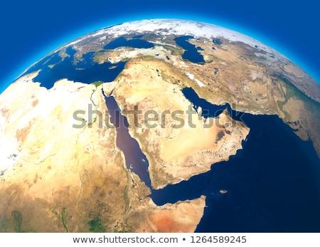 País Iémen satélite ver vermelho Foto stock © Harlekino