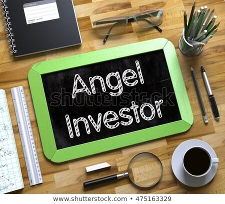 天使 投資家 手描き 緑 黒板 現代 ストックフォト © tashatuvango