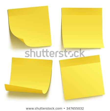 paper work notes isolated vector blank sticky notes realistic illustration on the wall stock photo © pikepicture
