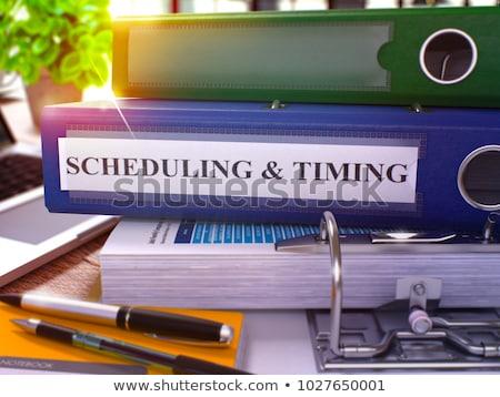 Blue Office Folder with Inscription Schedules. Stock photo © tashatuvango