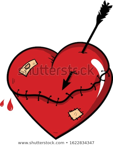 Love hurts, Valentine's Day - heart pierced with arrow icon Stock photo © gomixer