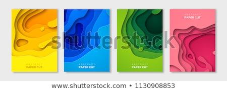 bleu · résumé · layout · vecteur · papier · coupé - photo stock © pikepicture
