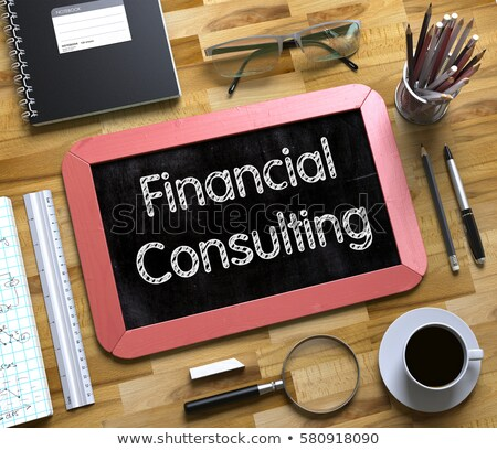 financial forecasting services concept on small chalkboard 3d stock photo © tashatuvango