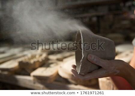 Feminino poeira lama cerâmica oficina Foto stock © wavebreak_media