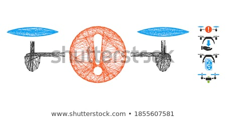 Quadcopter Framed Icon Stock photo © ahasoft